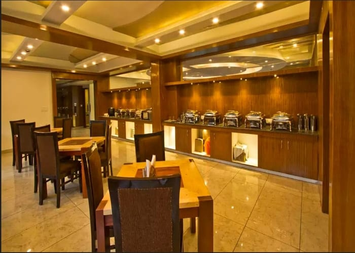 Cafeteria in hotel
